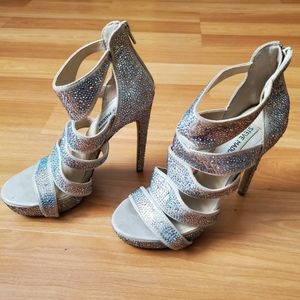 Gorgeous sparkly high heeled shoes